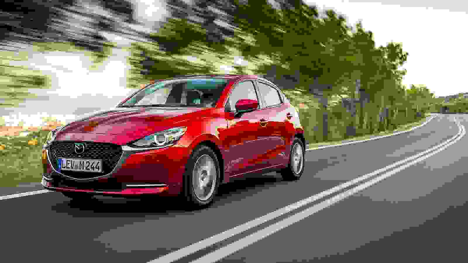Mazda 2 2020 red front
