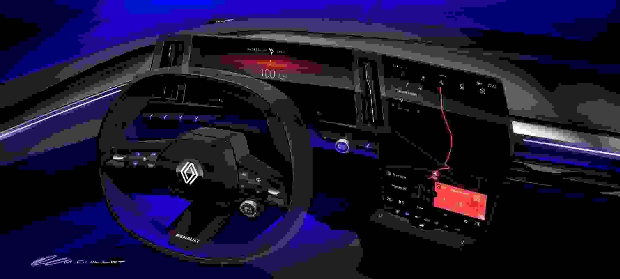 Renault Megane Electric2022 Dashboard