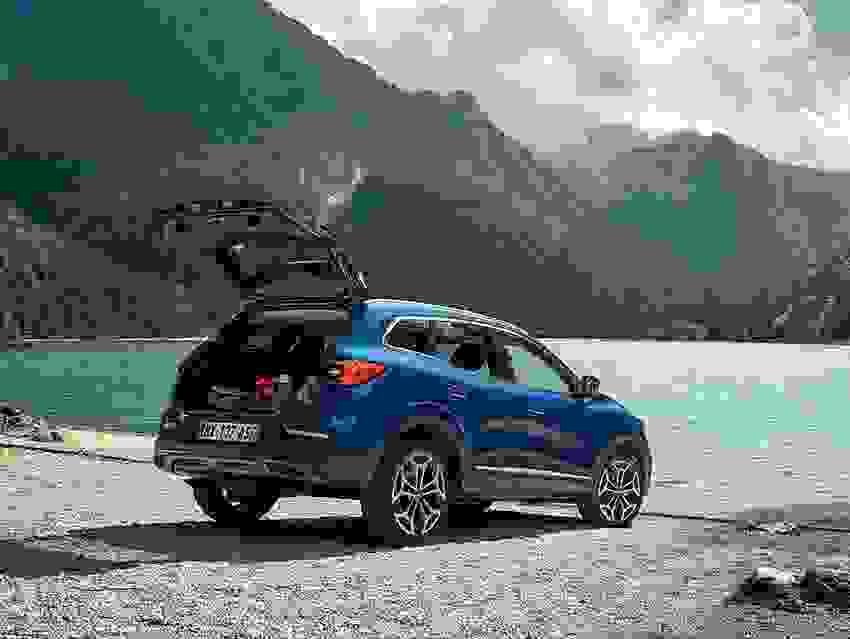 Renault Kadjar 2018 Eksterior Fleksibel Familiebil Blaa Bagklap Bagagerum