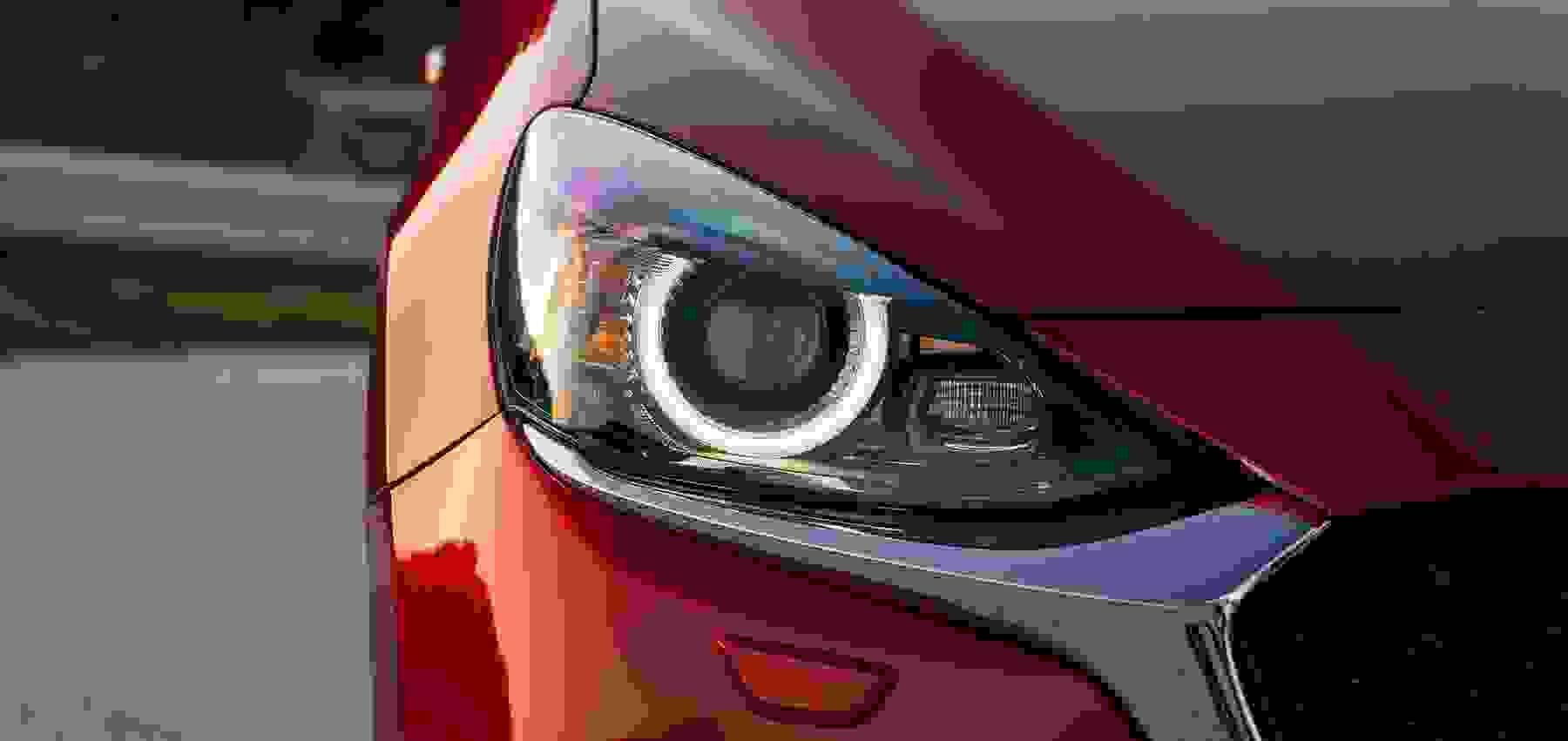 Mazda2 Red Headlight